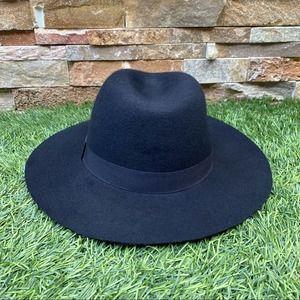 Urban Outfitters Ecote 100% Wool Felt Fedora Hat Black Women's One Size